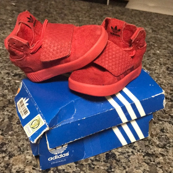 new product f9a12 49ca8 adidas Other - Adidas tubular invader Red toddler sneakers (5)